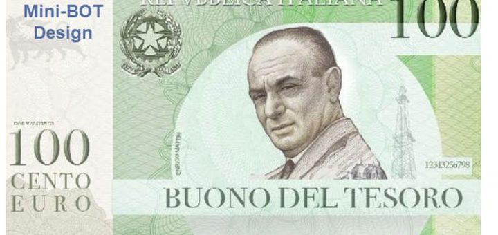 Les mini-bots sont des variantes des bons du trésor proposées par le gouvernement italien. C'est une monnaie parallèle qui ouvre la voie à la lire et l'italexit.